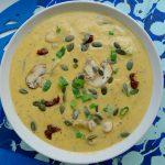 Doesburgse mosterdsoep in een vegan en glutenvrije versie. Dat is smullen! In plaats van spekjes zitten er champignons in deze maaltijdsoep ~ minder koolhydraten, maximale smaak ~ www.con-serveert.nl