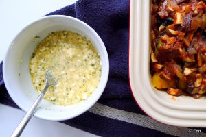 Vegetarische koolhydraatarme moussaka recept ~ minder koolhydraten, maximale smaak ~ www.con-serveert.nl
