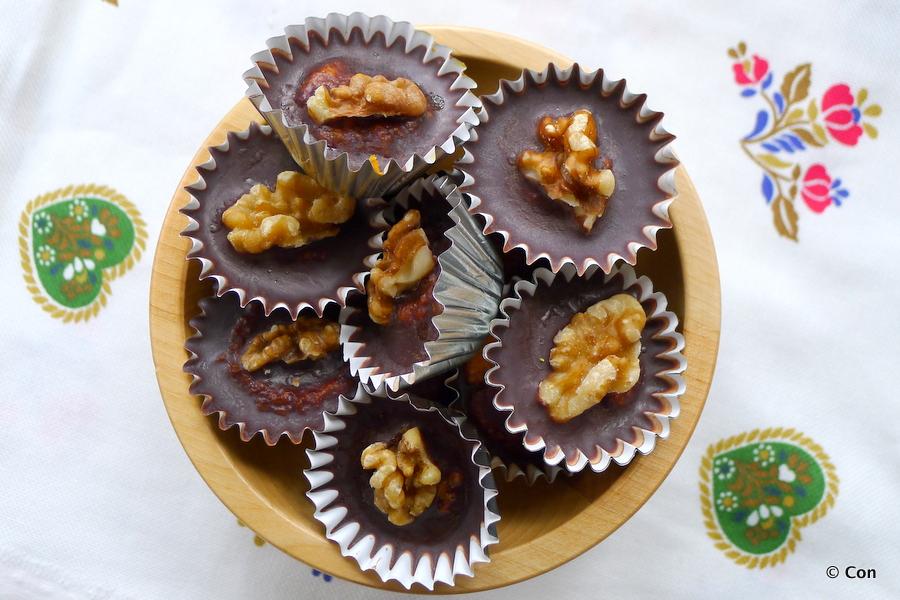 Chocolade worteltaart bonbons