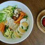 Bibimbap, vegetarisch recept ~ minder koolhydraten, maximale smaak ~ www.con-serveert.nl