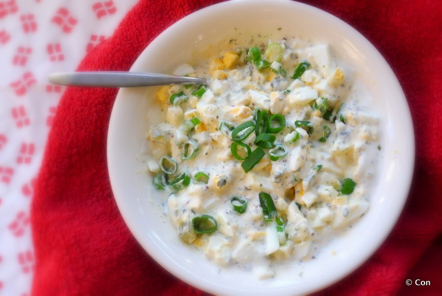 Koolhydraatarme eiersalade recept ~ minder koolhydraten, maximale smaak ~ www.con-serveert.nl