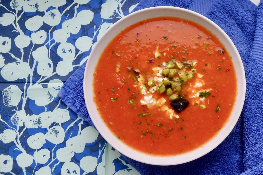 Geroosterde paprikasoep met aubergine recept ~ minder koolhydraten, maximale smaak ~ www.con-serveert.nl