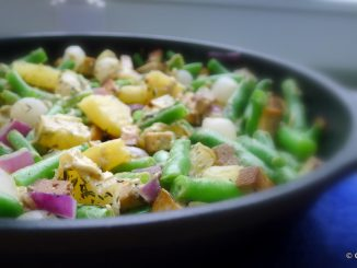 Sperziebonenschotel met zilveruitjes en ananas recept ~ minder koolhydraten, maximale smaak ~ www.con-serveert.nl