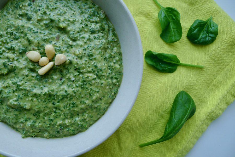 Spinazie hennep saus recept ~ minder koolhydraten, maximale smaak ~ www.con-serveert.nl