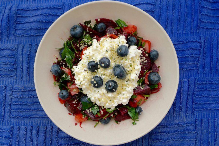 Bietjes salade met hüttenkäse recept ~ minder koolhydraten, maximale smaak ~ www.con-serveert.nl