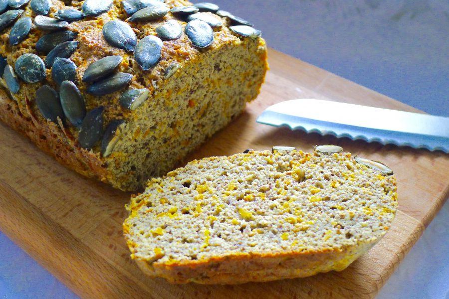 Koolhydraatarm pompoenbrood recept ~ minder koolhydraten, maximale smaak ~ www.con-serveert.nl