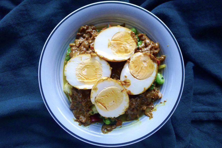 Rendang eieren recept ~ minder koolhydraten, maximale smaak ~ www.con-serveert.nl