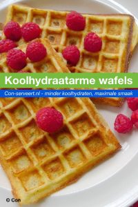 Koolhydraatarme wafels recept ~ minder koolhydraten, maximale smaak ~ www.con-serveert.nl