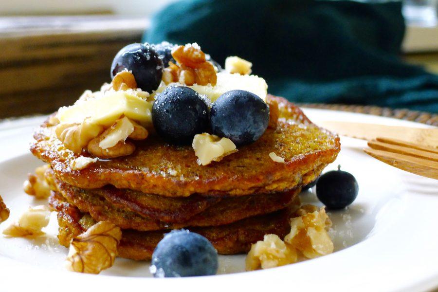 Pannenkoeken ontbijttaartje met pompoen recept ~ minder koolhydraten, maximale smaak ~ www.con-serveert.nl