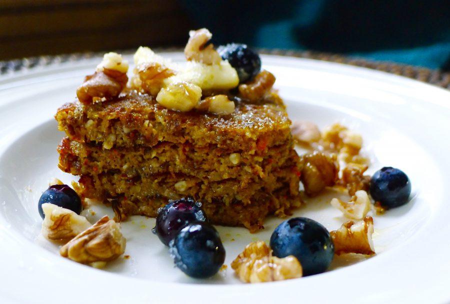 Pannenkoeken taartje met pompoen recept ~ minder koolhydraten, maximale smaak ~ www.con-serveert.nl