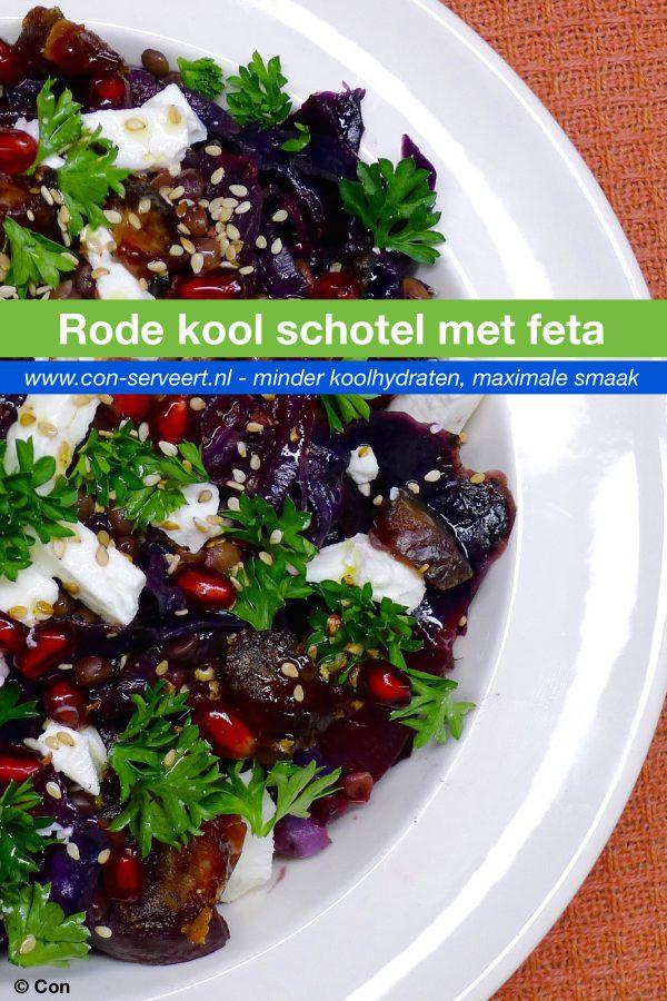 Rode kool schotel met bietjes en feta recept ~ minder koolhydraten, maximale smaak ~ www.con-serveert.nl
