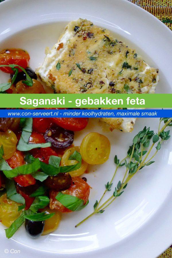Saganaki, gebakken feta recept ~ minder koolhydraten, maximale smaak ~ www.con-serveert.nl