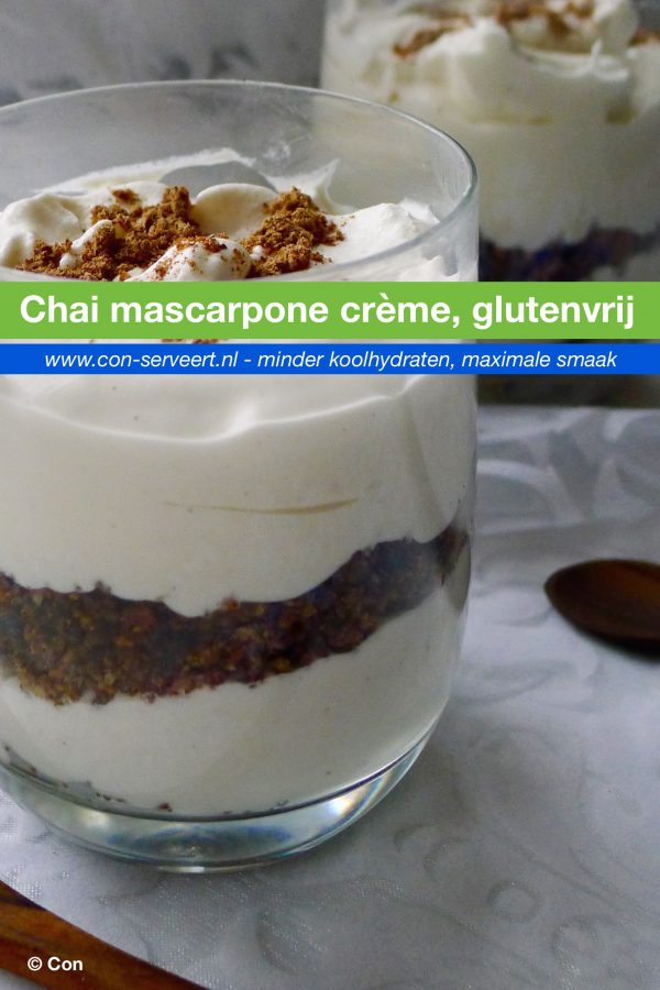 Chai mascarpone crème recept ~ minder koolhydraten, maximale smaak ~ www.con-serveert.nl