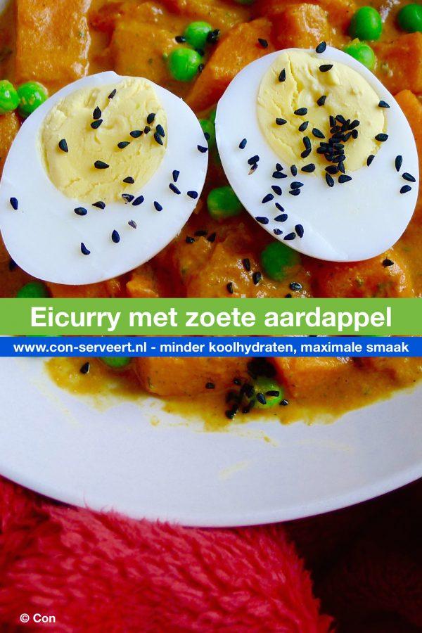 Eicurry met zoete aardappel recept ~ minder koolhydraten, maximale smaak ~ www.con-serveert.nl