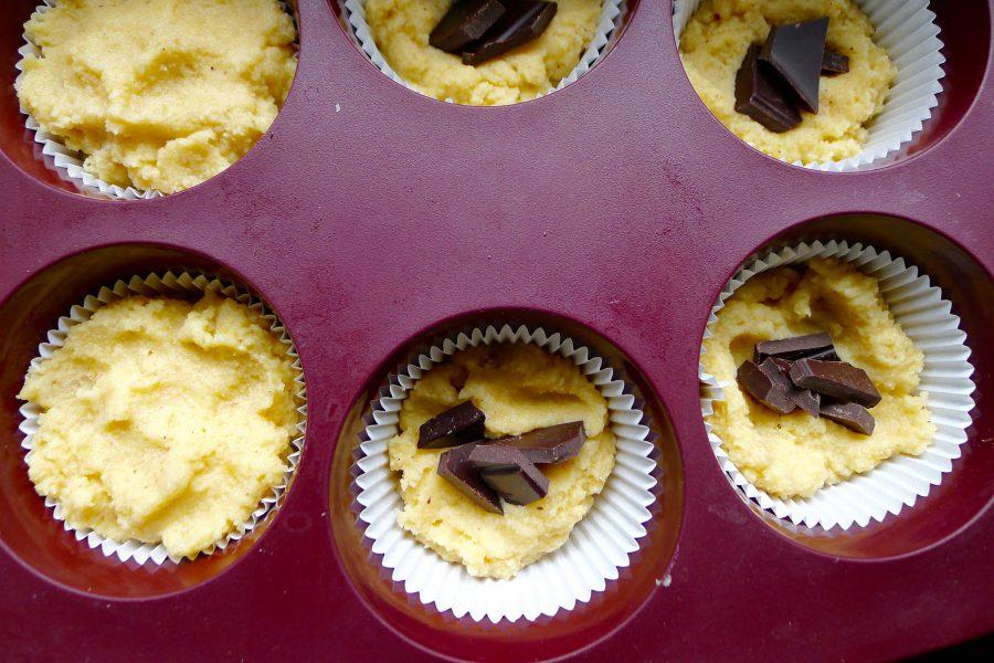 Banaanmuffins met chocolade recept ~ minder koolhydraten, maximale smaak ~ www.con-serveert.nl