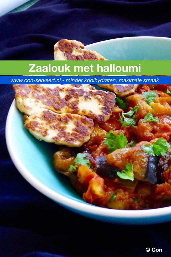 Zaalouk met halloumi recept ~ minder koolhydraten, maximale smaak ~ www.con-serveert.nl
