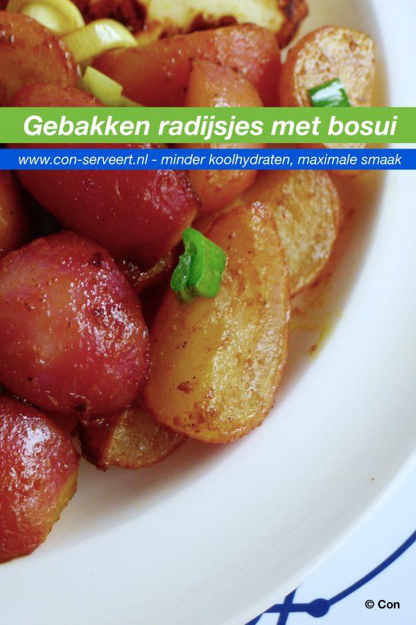 Gebakken radijsjes met bosui recept ~ minder koolhydraten, maximale smaak ~ www.con-serveert.nl