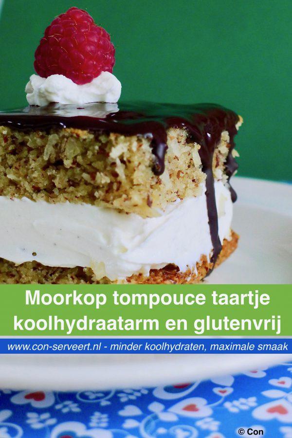 Moorkop tompouce, koolhydraatarm en glutenvrij recept ~ minder koolhydraten, maximale smaak ~ www.con-serveert.nl