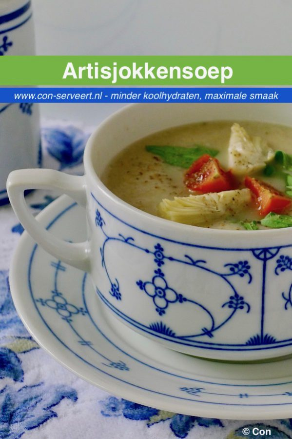 Artisjokkensoep recept ~ minder koolhydraten, maximale smaak ~ www.con-serveert.nl