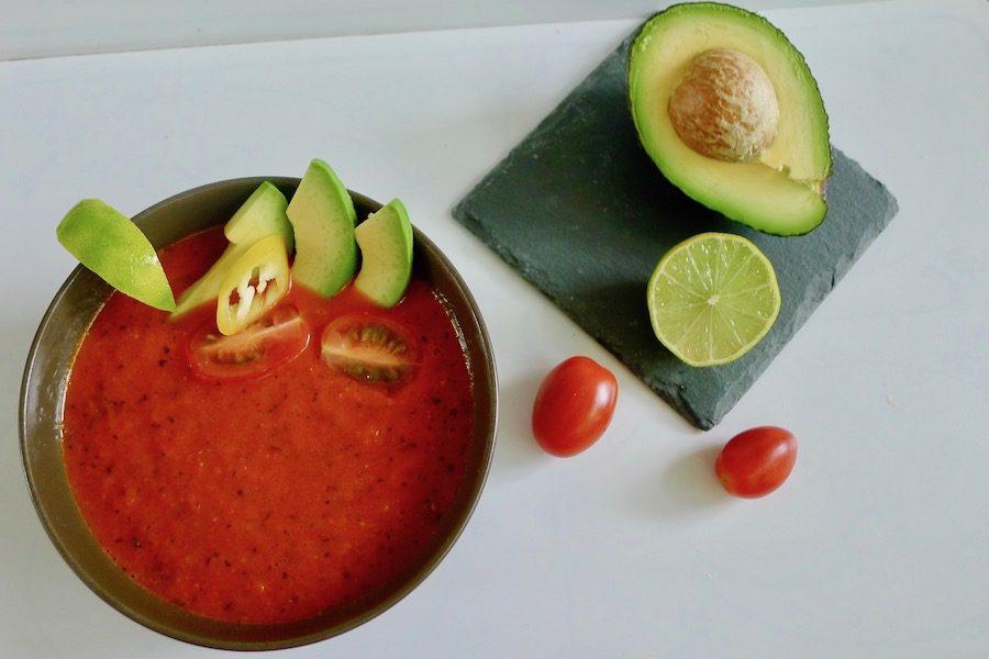 Mexicaanse tomatensoep recept ~ minder koolhydraten, maximale smaak ~ www.con-serveert.nl