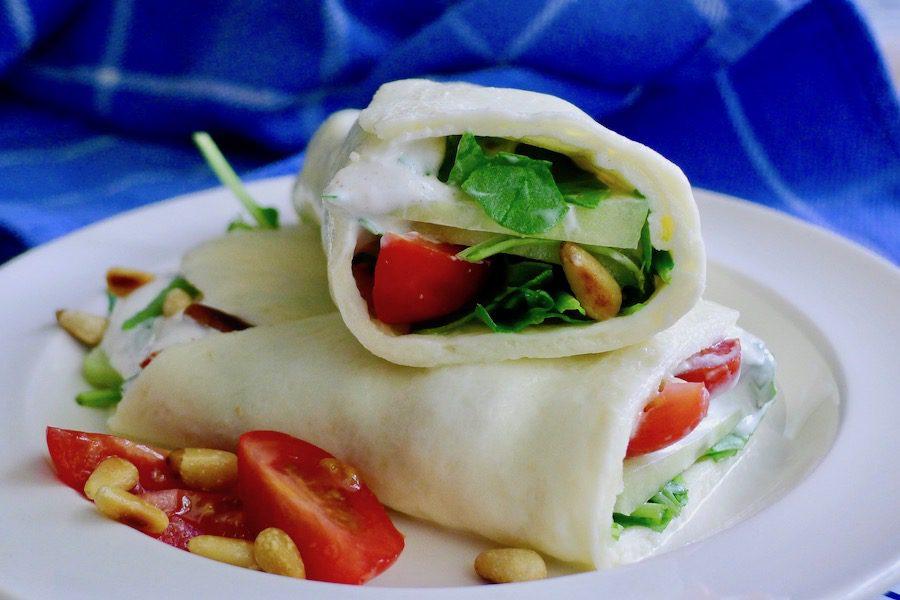 Mozzarella wrap, koolhydraatarm recept ~ minder koolhydraten, maximale smaak ~ www.con-serveert.nl