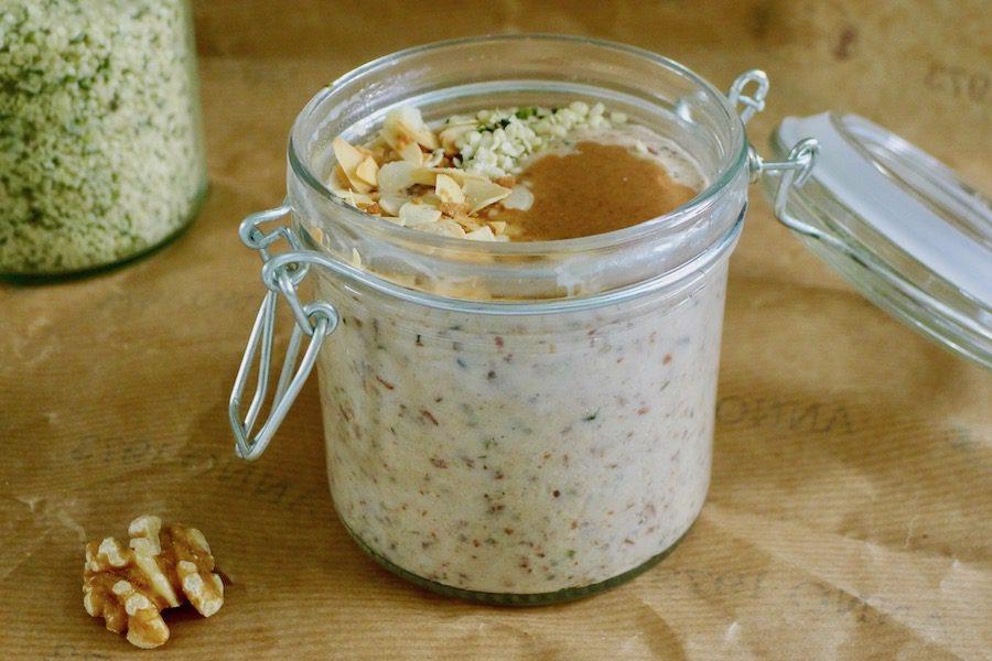 Overnight N'oats, koolhydraatarme havermout recept ~ minder koolhydraten, maximale smaak ~ www.con-serveert.nl