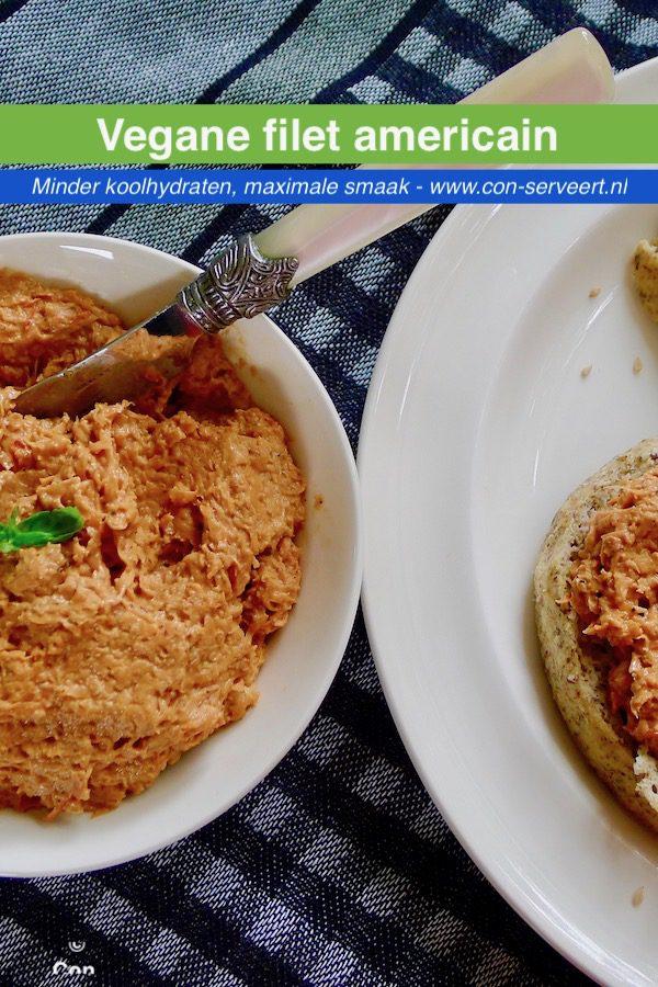 Filet Americain recept, vegan ~ minder koolhydraten, maximale smaak ~ www.con-serveert.nl
