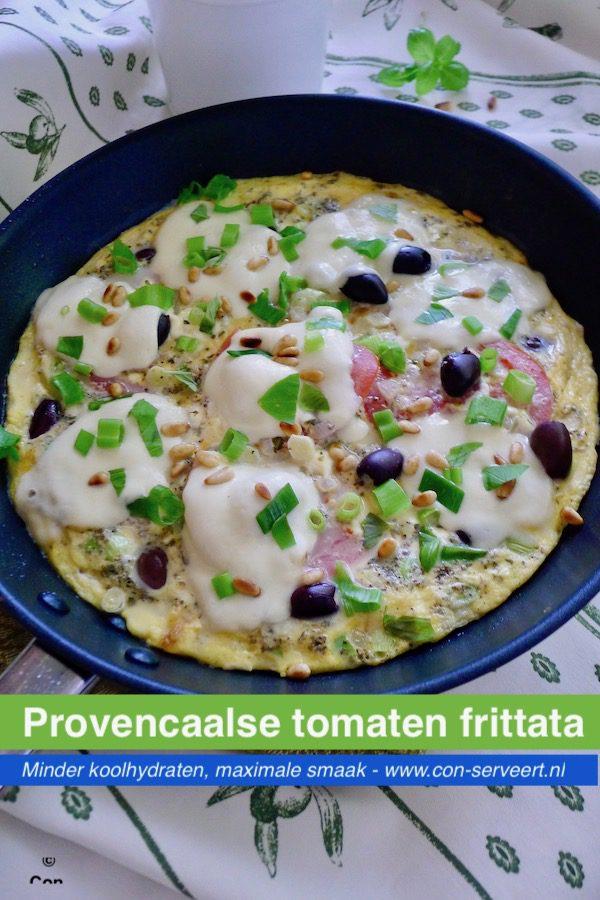 Provencaalse tomaten frittata, koolhydraatarm recept ~ minder koolhydraten, maximale smaak ~ www.con-serveert.nl