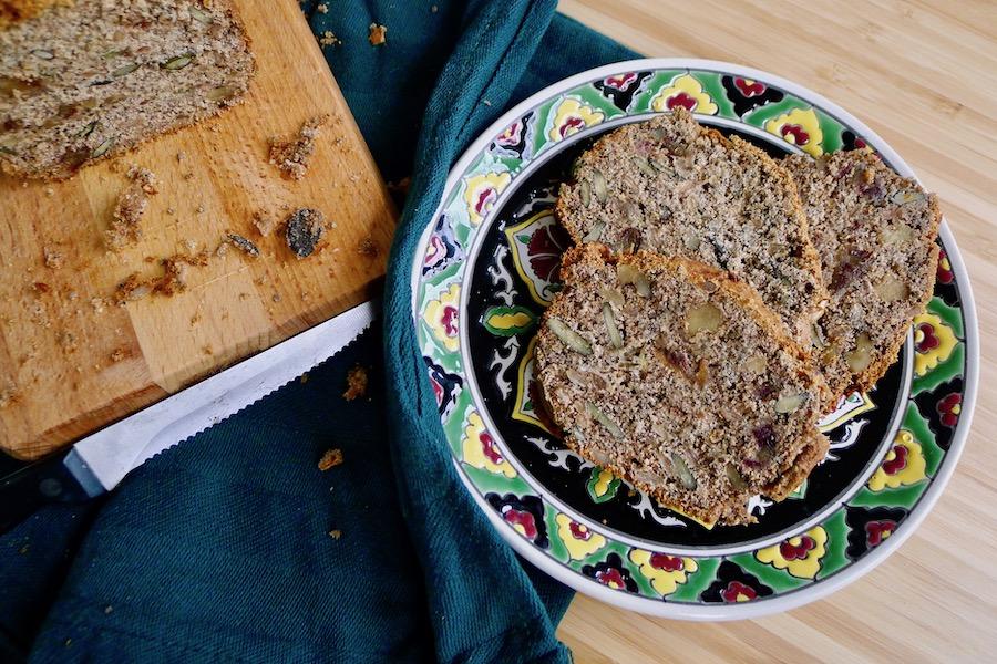 Speculaas bananenbrood met noten