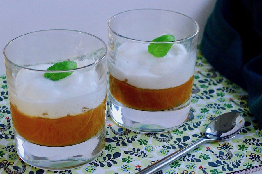 Thais pompoen cappuccino soepje, koolhydraatarm recept ~ minder koolhydraten, maximale smaak ~ www.con-serveert.nl