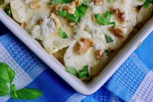 Wortelpeterselie ovenschotel met gorgonzola recept ~ minder koolhydraten, maximale smaak ~ www.con-serveert.nl