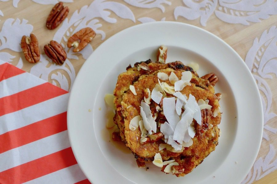 Worteltaart pannenkoeken recept ~ minder koolhydraten, maximale smaak ~ www.con-serveert.nl