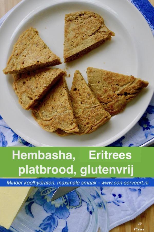 Hembasha, teffbrood recept uit Ethiopië / Eritrea - vegetarisch koolhydraatarm genieten begint bij www.con-serveert.nl