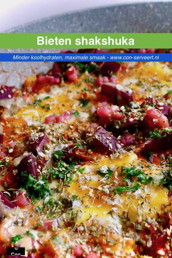 Shakshuka met rode biet recept ~ minder koolhydraten, maximale smaak ~ www.con-serveert.nl