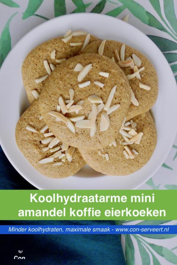 Mini amandel koffie eierkoeken, koolhydraatarm recept - vegetarisch koolhydraatarm genieten begint bij www.con-serveert.nl