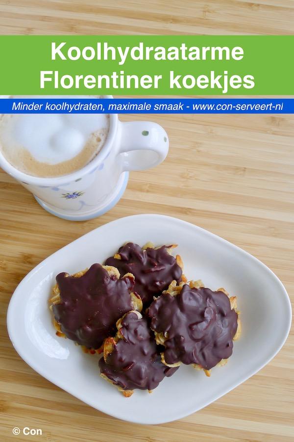 Koolhydraatarme Florentiner koekjes recept - vegetarisch koolhydraatarm genieten begint bij www.con-serveert.nl
