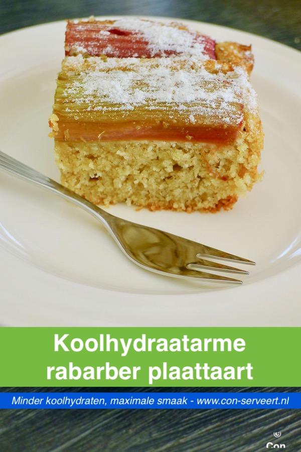 Koolhydraatarme rabarber plaattaart recept - minder koolhydraten, maximale smaak - www.con-serveert.nl