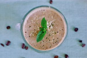 Koffie yoghurt smoothie recept ~ minder koolhydraten, maximale smaak ~ www.con-serveert.nl