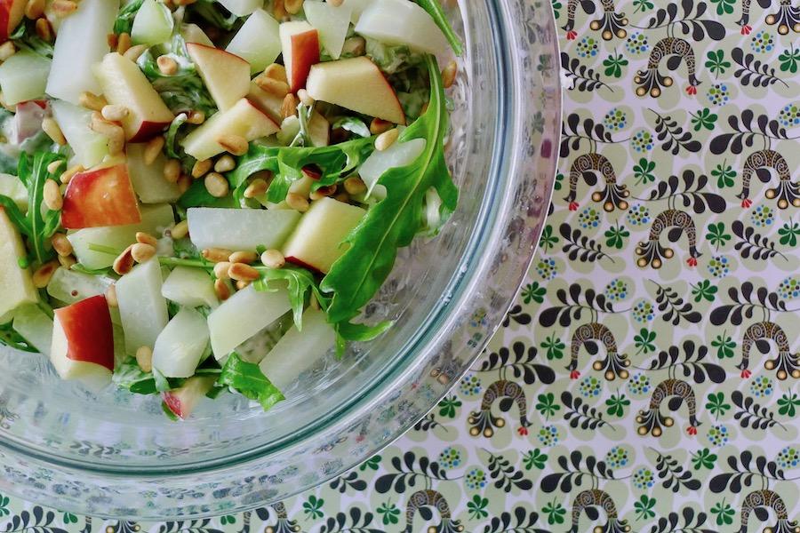 Koolrabi rucola salade met appel recept ~ minder koolhydraten, maximale smaak ~ www.con-serveert.nl