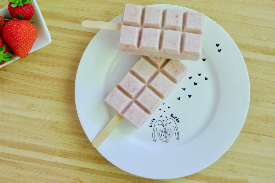 Rabarber aardbeien ijsjes, koolhydraatarm recept ~ minder koolhydraten, maximale smaak ~ www.con-serveert.nl