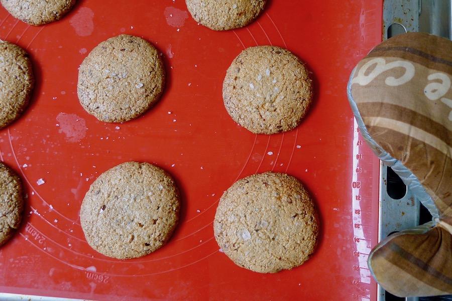Cashew pinda koekjes met zeezout