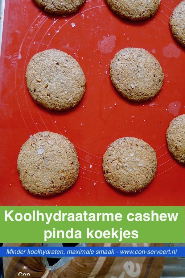 Cashew pinda koekjes met zeezout, koolhydraatarm recept ~ minder koolhydraten, maximale smaak ~ www.con-serveert.nl