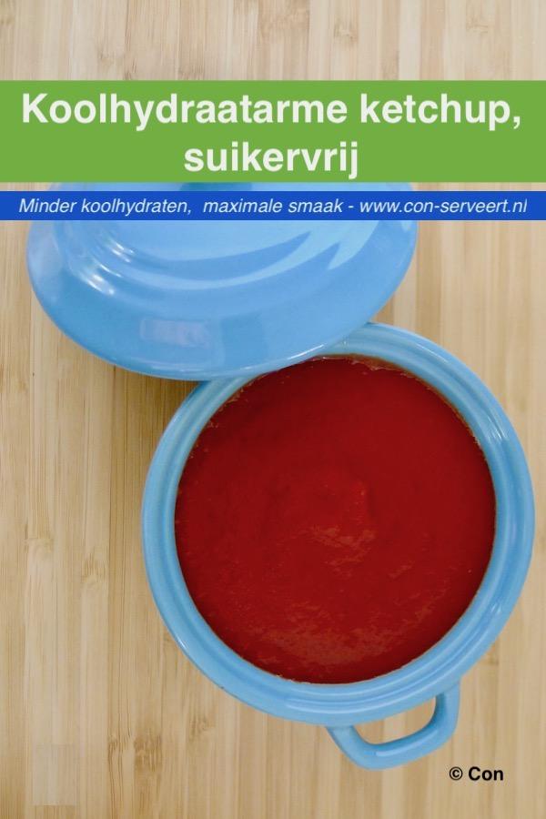 Koolhydraatarme ketchup, suikervrij recept ~ minder koolhydraten, maximale smaak ~ www.con-serveert.nl