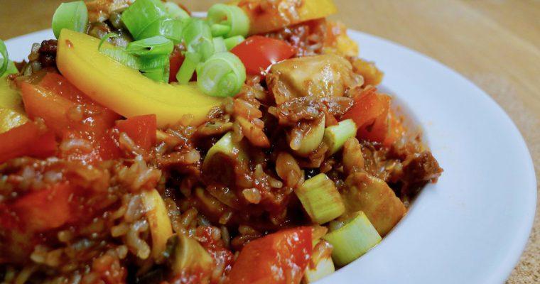 Jackfruit pilav met konjac rijst