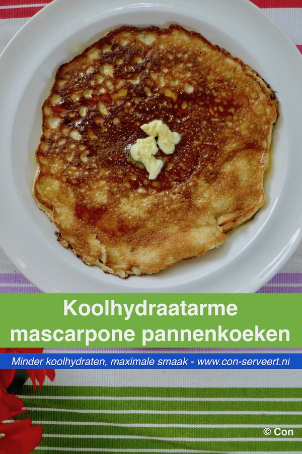 Koolhydraatarme mascarpone pannenkoeken recept ~ minder koolhydraten, maximale smaak ~ www.con-serveert.nl