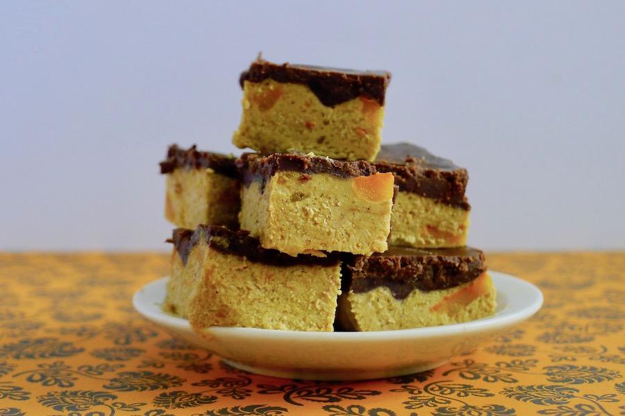 Suikervrije pompoen fudge met carob recept ~ minder koolhydraten, maximale smaak ~ www.con-serveert.nl