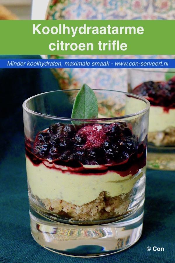 Koolhydraatarme citroen trifle recept ~ minder koolhydraten, maximale smaak ~ www.con-serveert.nl