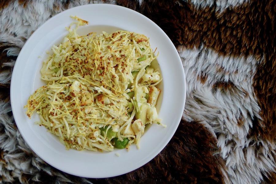 Spruitjes knolselderij ovenschotel recept ~ minder koolhydraten, maximale smaak ~ www.con-serveert.nl