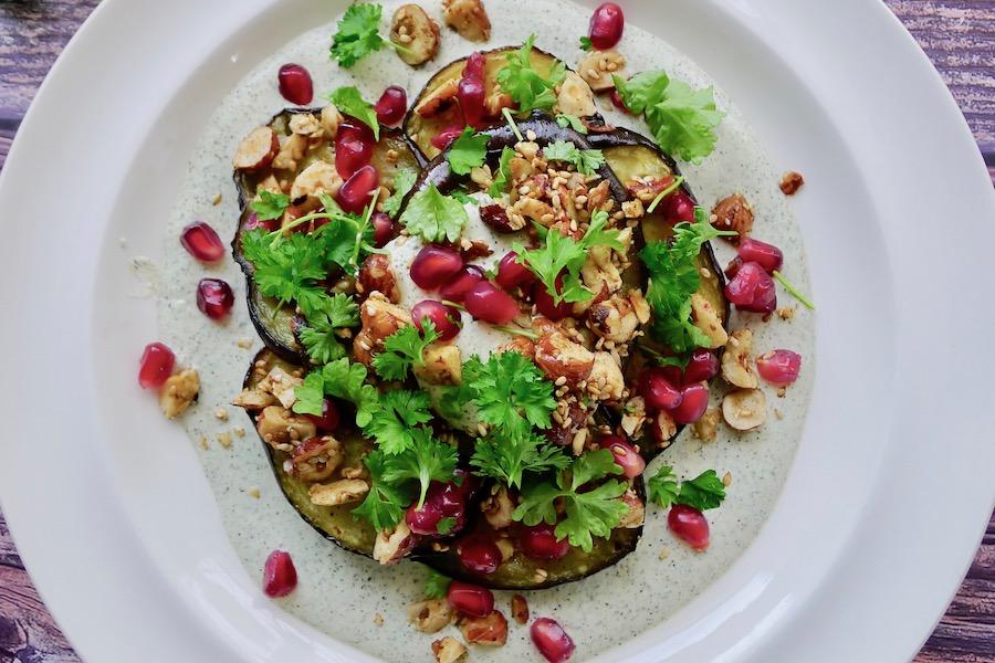 Geroosterde aubergine op henneproom recept ~ minder koolhydraten, maximale smaak ~ www.con-serveert.nl
