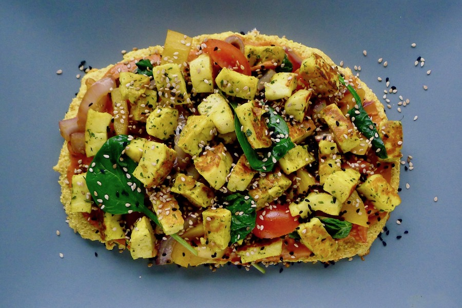 Indiase pizza paneer, koolhydraatarm recept ~ minder koolhydraten, maximale smaak ~ www.con-serveert.nl
